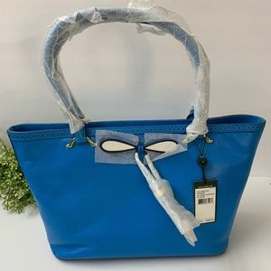 Ralph Lauren Dundee Classic Shopper Tote Leather